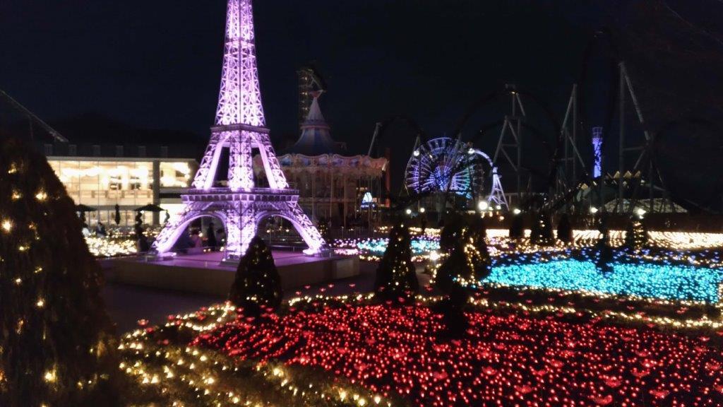 山梨県,イルミネーション,おすすめ,リサとガスパールタウンのクリスマス